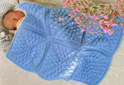 Knitting Pattern Baby's Blanket or Cot Cover   (26