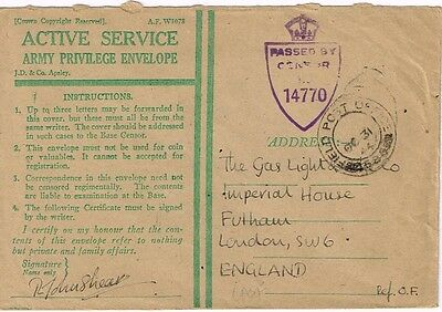 1944 GB - Military Field Post censored cover