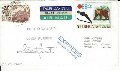 1972 SS Fairsea Ship Mail to USA