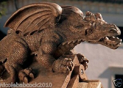 Dragon Gargoyle Watchman Of Your Castle Sculpture Garden Roof Or Home