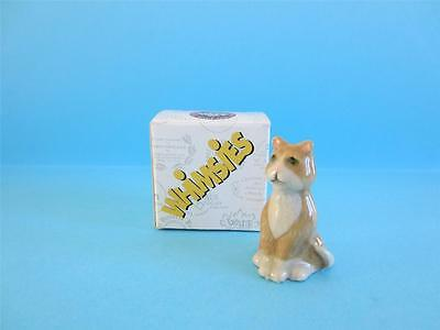 Wade Brown&white Cat Whimsies Set 8, 2006 *discontinued* Hard To Find Mint