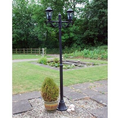 Outdoor Garden Lighting Victorian Style 2 Head Lamp Post - Garden Lights Lantern