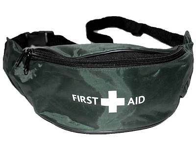 Green First Aid Bum Bag (UNKITTED) for Sports St John Medic Doctor First Aider