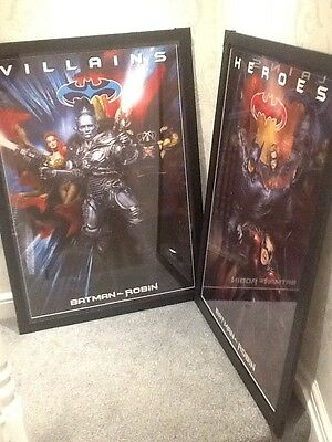 Batman & Robin - Heroes & Villains Original Movie Framed Posters. Very Large 3D.