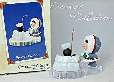 2002 Hallmark Frosty Friends Keepsake Ornament Igloo Penguin 23rd in Series #23