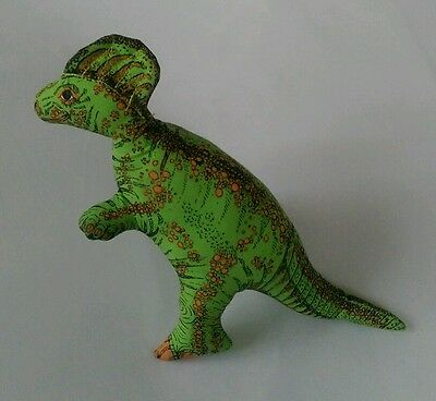 Vintage 1992 Applause Green Hadrosaurus Dinosaur Dino Plush Stuffed Animal Toy
