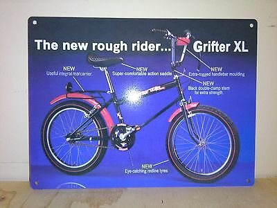 raleigh grifter metal sign ,  reproduction classic bike metal memorabilia sign
