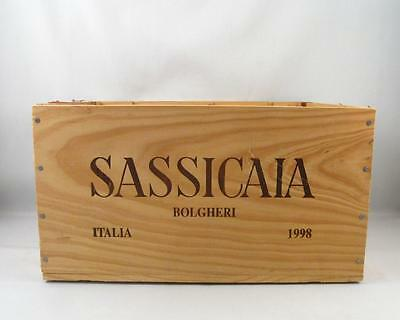 1998 Sassicaia Wood Crate Box  For 6 Bottles