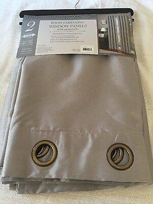Curtains BLOCKOUT EYELET LINED Grey gray