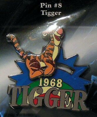 "Disney Store 100 Years of Dreams Pin #8 ""sliding-moving"" Tigger 1968 NEW"