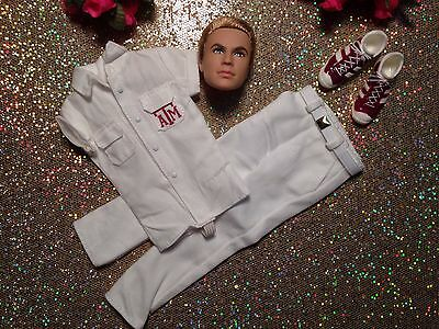 Barbie Collector Texas Ken Fashion Doll Head & Outfit Mint ~