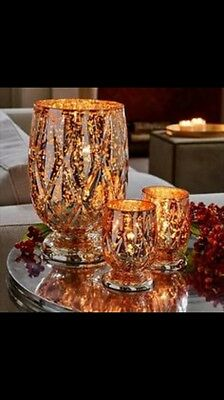 Partylite Silver And Gold Shimmer Votive Pair NEW IN BOX