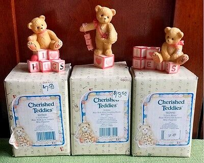 ENESCO CHERISHED TEDDIES Valentines BEARS collection mini figures FREE SHIPPING