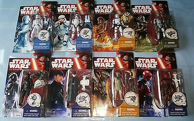 Star Wars The Force Awakens 3.75'  Set Of 8 2015