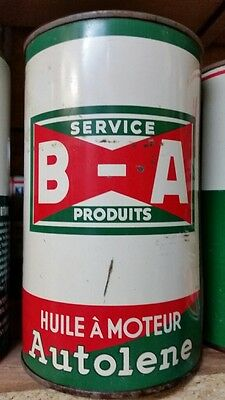 BA B A British American Bow Tie Autolene Motor Oil Imperial Quart Tin Can