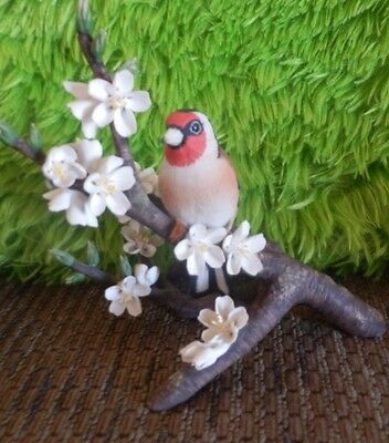 Vtg 1979 Franklin Porcelain European Goldfinch Figurine Rspb Limited Edition