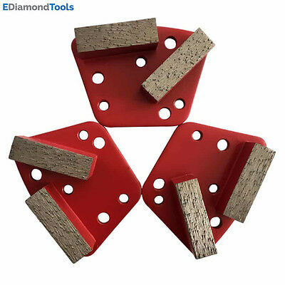 Trapezoid HTC Grinding Discs for Bolt On Grinders - #60/80 Medium Bond Set of 3