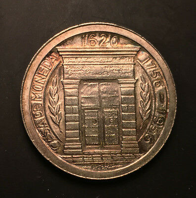 argent silver COLOMBIA 1956 1 Peso Popayan Mint