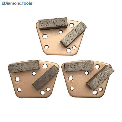 Trapezoid HTC Grinding Discs for Bolt On Grinders - #30/40 Soft Bond Set of 3