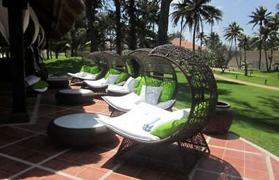 Wicker Outdoor Daybed furniture Lounge Laguna Canopy Designer Outdoor Sunlounge