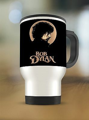 Bob Dylan Logo on Travel Mug Thermos Tumbler Stainless Steel 15oz New