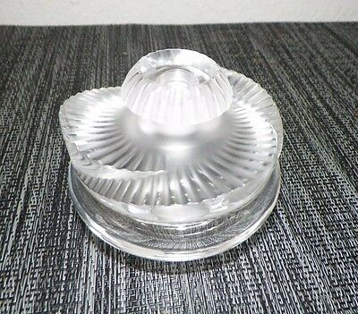 Lalique France Clear & Frosted Swirl Vanity Perfume Bottle