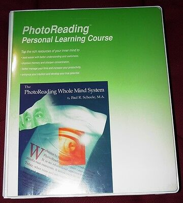 Photo Reading Photographic Memory Whole Mind Personal Learning Course System