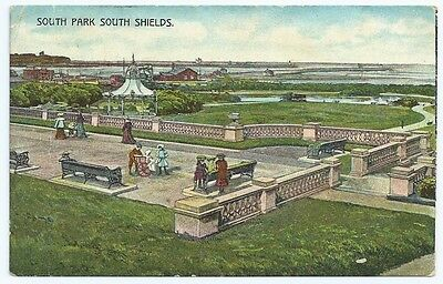 Vintage Postcard.  South Park, South Shields. Used 1907.  Ref:6683