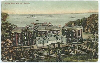 Vintage Postcard.  Bantry House And Bay, Bantry. Used 1905. Ref:6544