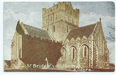 Vintage Postcard. St. Bridgid's Cathedral, Kildare. Unused.  Ref:6922