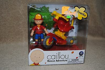 Caillou Firetrike Figure Rescue Adventure Vehicle Fire Chief PBS Kids