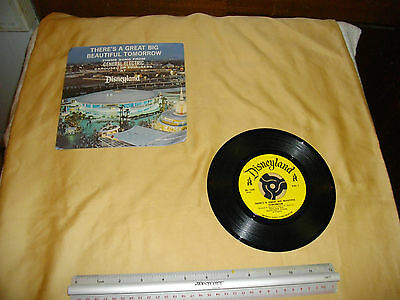 """disneyland there's a great big beautiful tomorrow 7"""" 45 general electric pic"""