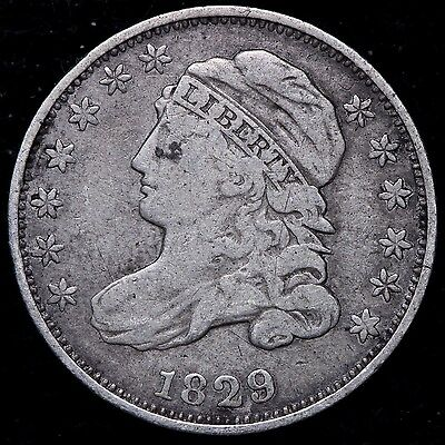 FINE 1829 Capped Bust Dime R8MN SW