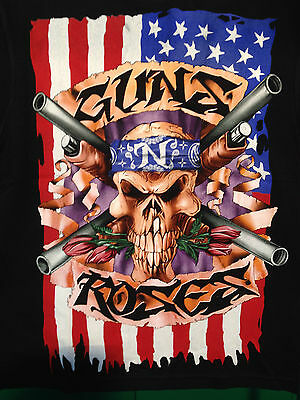 Guns & Roses Music Band Short Sleeve T-Shirt Printed On Front And Back Cotton