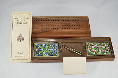 Stancraft Wood Cribbage Board Travel Card Kit