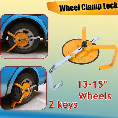 Auto Car Vehicle Wheel Clamp Disc Lock Anti-Theft Security Safety Heavy Duty