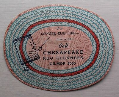 Mid-Century Baltimore Rug Cleaning Company Novelty Advertising Item