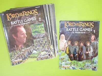 BULK x 40 LORD OF THE RINGS BATTLE GAMES MIDDLE EARTH MAGAZINES ONLY INCLUDES #1