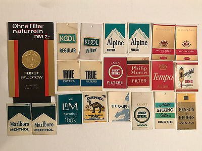 51 CIGARETTE VENDING MACHINE LABEL CARDS TAGS CAMEL 2X2 - USA & GERMANY 1950/60s