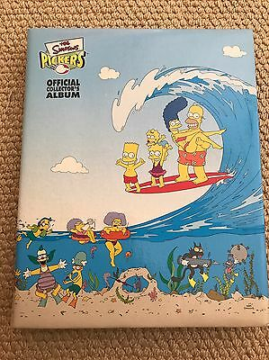 The Simpsons Tazo Pickers COMPLETE set 120/120 In Collectors Album