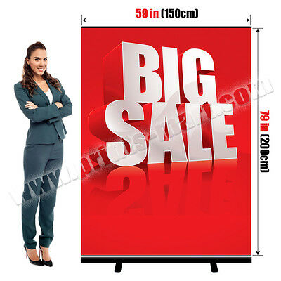 Black Color Roll Up Pull Up Banner Stand Portable Trade Show Display Free Print