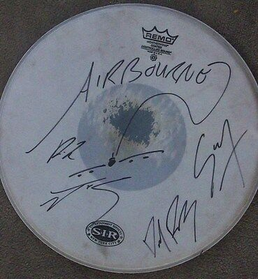 """Airbourne Signed Autographed 14"""" Drumhead Drumskin Ac/dc Acdc"""