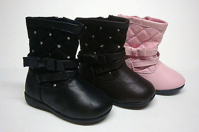 Brand New Infant/Toddler Baby Girls Dress Boots Size 4 - 8