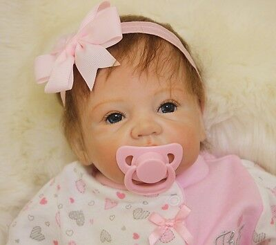 "Realistic Neonatal Girl 22 ""Reborn Baby Doll Soft Vinyl Toy Birthday Gift"