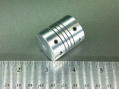 "1/4"" x 3/8"" Flexible Ballscrew Motor Shaft Clamp Coupler Coupling Linear Motion"