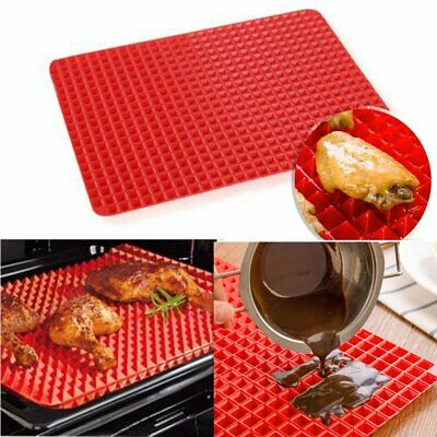 Pyramid Pan Fat Reducing Non Stick Silicone Cooking Mat Oven Baking Tray