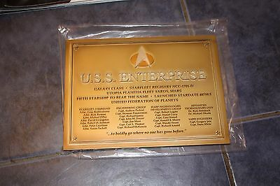Star Trek Eaglemoss USS Enterprise Commissioning Plaque NCC1701D