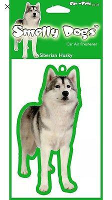 Siberian Husky Air Freshener Tree Dog Cute Novelty Gift SALE