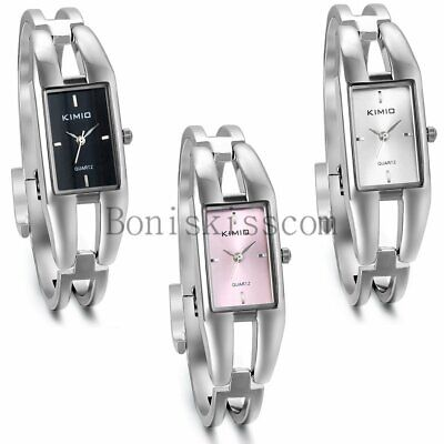 Fashion Lady Women Girl Rectangle Dial Quartz Analog Dress Business Wrist Watch
