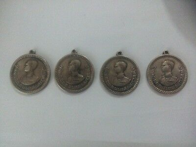 4PSC RARE Thai Amulet-Thailand Silver 925 coin King Rama 9 Cha Kao(ชาวเขา)